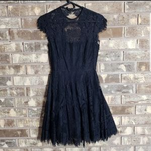 BB Dakota black lace fit and flare NWT kneelength